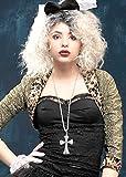 Struts Fancy Dress 80er Jahre Madonna-Stil Juwel Kreuz Halskette