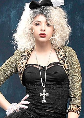 80er Jahre Madonna-Stil Juwel Kreuz Halskette