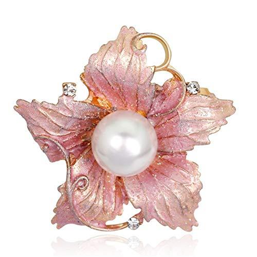 , Pink Blume Perle Zubehör Retro Geschenke Braut Auf Bankette Prom Hochzeiten Dekor Elegante Vintage Schmuck Für Männer Mädchen Kleidung Schal ()