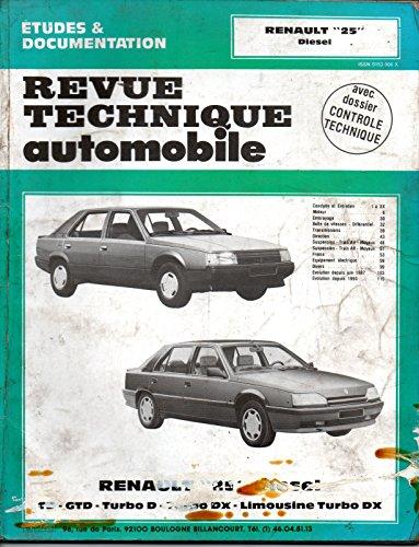 Revue technique de l'Automobile numéro  475.6 : Renault 25 diesel, TD, GTD, Turbo D