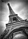 Poster 50 x 70 cm: Eiffelturm Paris III von Melanie Viola - Hochwertiger Kunstdruck, Kunstposter