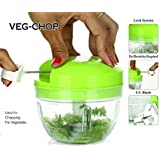 NR MART Handy Chopper Kitchen Manual Vegetable Onion Cutter In 500 Ml With 4 Blades