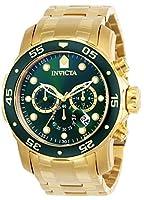 Invicta 0075 Pro Diver - Scuba Reloj para Hombre acero inoxidable Cuarzo Esfera verde de Invicta