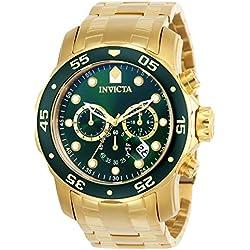 Invicta 0075 Pro Diver - Scuba Reloj para Hombre acero inoxidable Cuarzo Esfera verde