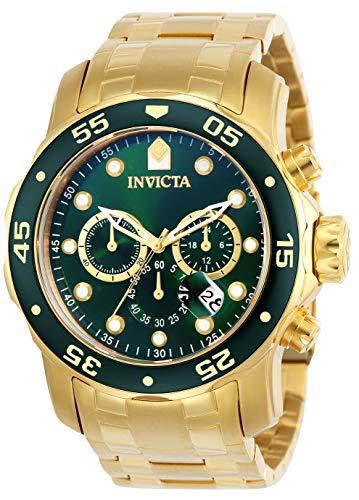 Invicta 0075 Pro Diver - Scuba Herren Uhr Edelstahl Quarz grünen Zifferblat Pro Kombi-case