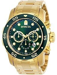 d1c81f58040 Invicta 0075 Pro Diver - Scuba Men s Wrist Watch Stainless Steel Quartz  Green Dial