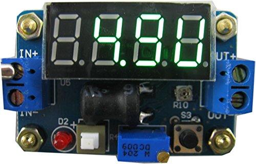 Yeeco DC DC Secchio Converter Stabilizzatore 4.5-24V a 1V-20V Regolabile Step-down Alimentazione Elettrica Modulo Voltaggio Regolatore con Rosso Voltometro Amperometro