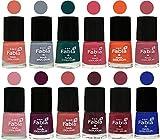 #5: Fabia Matte Nail polish Combo of 12 Shades-Light Peach-Wild Gray Yonder-Dark Green-Shock Pink-Sour Orange-Mauve Pink-Rose-Boysenberry-Peach-Wine-Wine Red-Shock Blue Dark