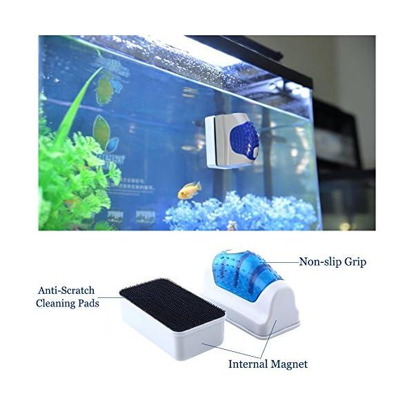 Yakamoz Magnetic Aquarium Fish Tank Glass Algae Scraper Cleaner Brush Tool S