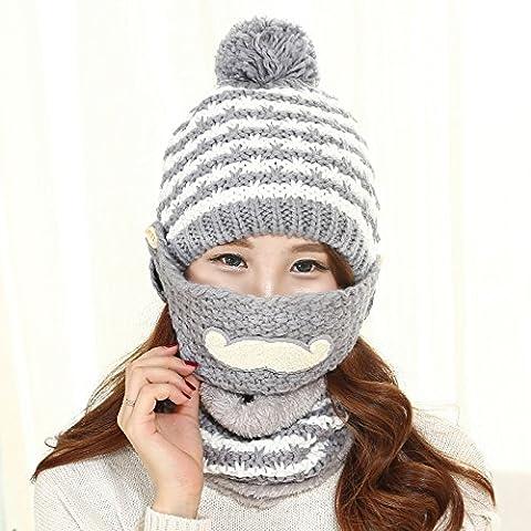 Dngy*Cappelli invernali bambini barba di marea di tessitura a maglia