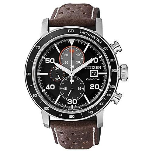 Citizen Herren Chronograph Quarz Uhr mit Leder Armband CA0641-24E - Band Leder Citizen-herren Uhren