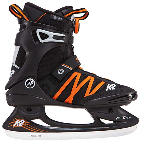 K2 Herren Fitness Schlitt-/Eishockey-/Eislaufschuhe Fit Ice BOA, schwarz-orange, 46 EU (11 UK), 25B0001.1.1.120