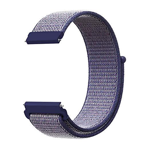 FINTIE Cinturino per Galaxy Watch 42mm & Gear Sport & Gear S2 Classic & Huawei Watch 2 - Premium Nylon Traspirante Watch Band Strap di Ricambio con Chiusura Regolabile (Samsung Gear S2, Blu Notte)