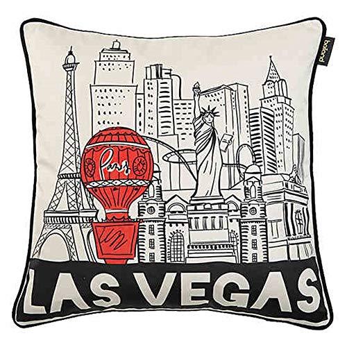 Cuscini JXQ lombari, Modello di Las Vegas Print Room, 45 * 45cm, Bianco