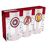 ABYstyle MARVEL - Set de 3 verres Avenger, Captain America et IronMan