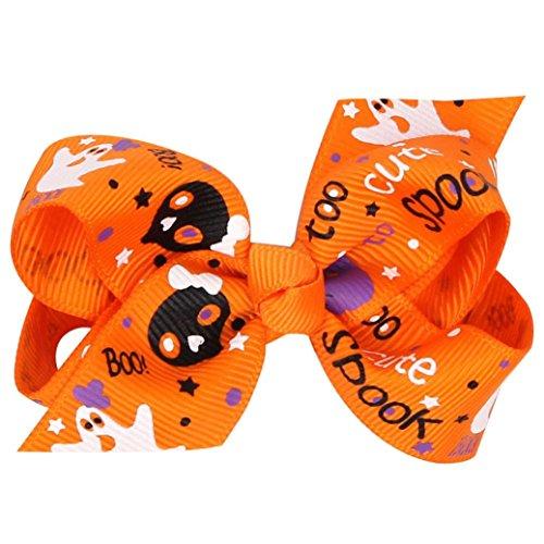 TPulling Halloween Niedlich Baby Mädchen Bowknot Haarnadel Kopfschmuck - Mit Halloween-gruselige Requisiten Geschichte