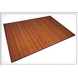 Alfombra de Bambú. Tamaños Diferentes. Ancho de bambú de 5o 17mm., marrón, 230x160 cm - 17mm Bambusbreite