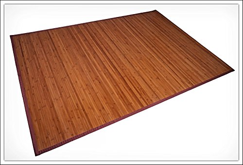 Bambus Teppich 180 x 120 cm - 17mm Bambusbreite - Wohnzimmerteppich Badezimmerteppich