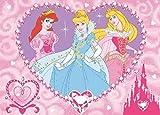 Kinder Teppich Kinderteppich Princess Aurora Cinderella Arielle im Herz Kinderteppich Teppich Kinderteppich Kinder Teppich Spielteppich darf in keinem Kinderzimmer fehlen 95 x 133 cm