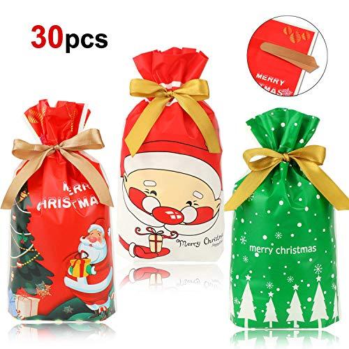 HOWAF Navidad Regalo Bolsas Cordón Caramelos Dulces