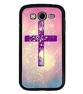 Fuson Premium 2D Back Case Cover Christian Cross With Multi Background Degined For Samsung Galaxy Grand Neo Plus::Samsung Galaxy Grand Neo Plus i9060i