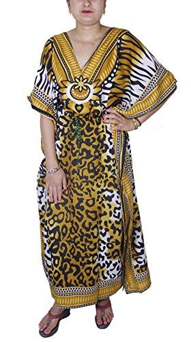 Abito estivo camicetta tunica delle donne del lungo stampato il vestito caftano abaya manica corta
