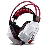 granvela® X60Digital Virtual 7.1Surround Sound Stereo-Ear Gaming-Headset mit Noise Reduction Mikrofon, LED Beleuchtung, Lautstärkeregler und Smart Vibration für PC, Notebook