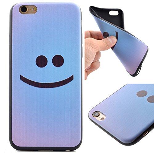 Voguecase® Per Apple iPhone 5 5G 5S, Custodia Silicone Morbido Flessibile TPU Custodia Case Cover Protettivo Skin Caso (Nero - unicorno) Con Stilo Penna Nero - faccia sorridente 01