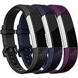 HUMENN Bracelet pour Fitbit Alta/Fitbit Alta HR/Fitbit Alta Ace, Bande de Remplacment TPU Réglable Accessoire for Fitbit Alta (HR) Small Noir Bleu Prune