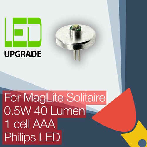 MagLite Solitaire Taschenlampe, LED-Lampe, Umbau/Aufrüstung für MagLite Solitaire Taschenlampe 1AAA -
