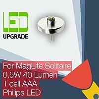 MagLite Solitaire LED de repuesto bombilla conversión/kit de actualización para MagLite Solitaire linterna/linterna 1AAA