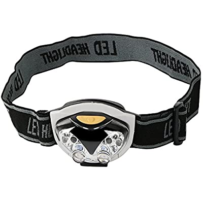 TRIXES leichte 6 LED Stirnlampe mit verstellbarem Kopfband zum Camping Wandern Fahrradfahren Hands-free Kopflampe