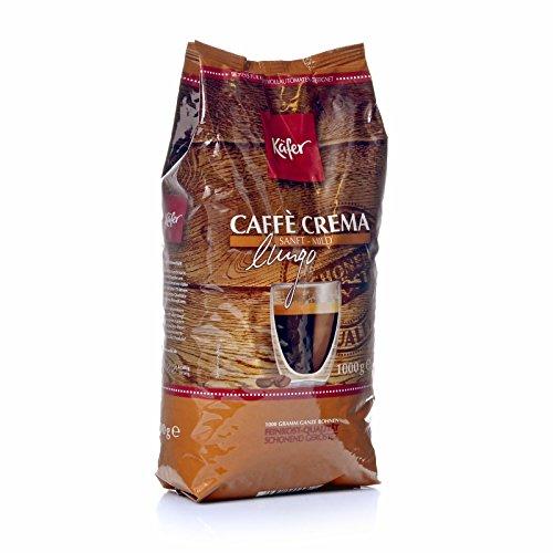 Käfer Caffé Crema Sanft - Mild 8 x 1kg ganze Bohnen