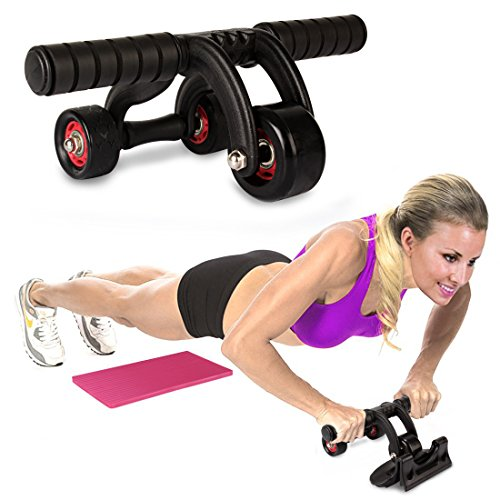 UNISEX 3-Wheel AB Roller Toner Exercise Equipment for Abdominal Core Workouts and Belly Fat Reducer