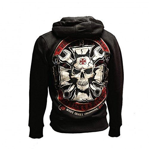 West Coast Choppers Zip Hoody Mechanic schwarz