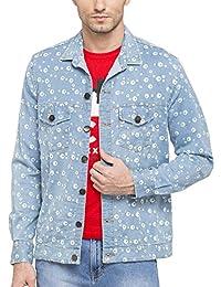 Nick & Jess Men's Printed Denim Jacket