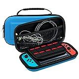 KEESIN Nintendo Switch Griff Tasche Tragbare EVA Tragetasche Schutzharte Shell Aufbewahrungsbeutel Reisetasche für Nintendo Switch Console (Blau)