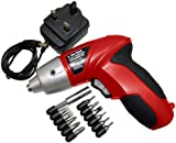 Am-Tech 3.6V Cordless Screwdriver with Accessories and Charger