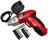 Am-Tech 3.6V Cordless Screwdriver with Accessories and Charger (DIY & Tools)