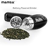 Mamba elektrisch betriebene Kräutermühle: Vor- und Rücklauf. Verstopft nie. Einfach zu nutzende Einhand-Bedienung. Mahlt die härtesten Kräuter. Kapazität 0,5 Gramm. Kein Schmutz, kein Abfall