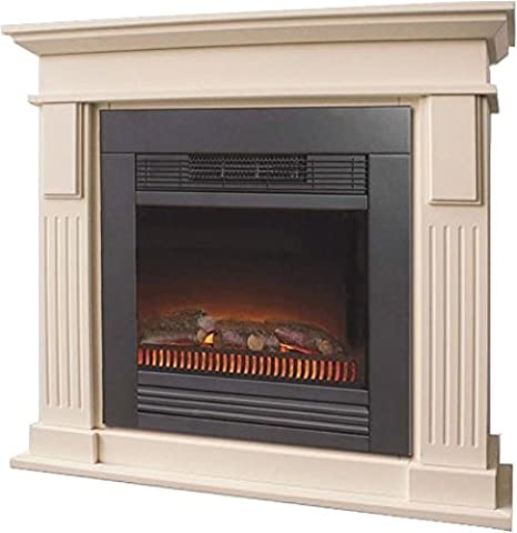 Casa Padrino Art Nouveau electric fireplace cream B 103 x H 95 x D 33 cm - Electric fireplace - Living room Antique style