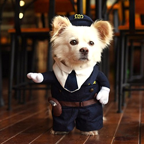 Hoopet Cool and Cute Pet Costume puppy Clothing for dogs and cats Perfect for Halloween Fancy dress Christmas (L) (Di Costumi Foto Di Halloween)