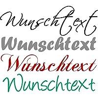 Wandtattoo selbst gestalten Wunschtext Text nach Wunsch Farbauswahl Wanddekoration