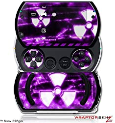 Radioactive Purple Decal Style Skins (Fits Sony Ps Pgo)