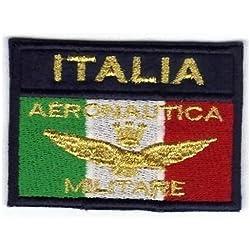MAREL Patch Bandera Aeronautica Militare Italia cm 7,5x 5Parche Bordado Bordado -392