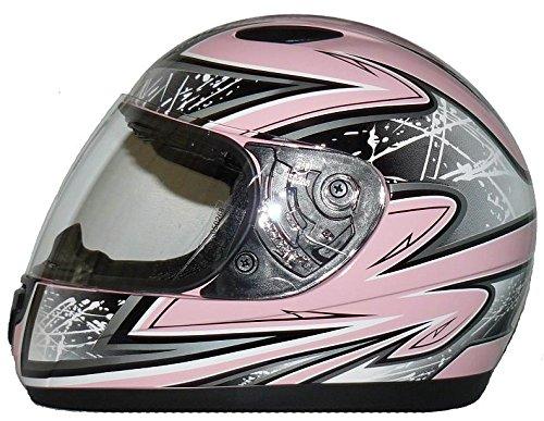Kinder Motorradhelm pink SA03 + Sturmhaube - XS