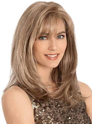 Beauty Smooth Hair Western Mode Lang Kanekalon Licht Braun Gerade Haar Peruecke LC28 (Echthaar Perücke Europäische)