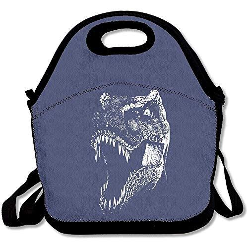 T Rex Evil T-Rex Bare Dinosaurier Graphic Design2 große und dicke Neopren-Lunch-Taschen, isolierte Lunch-Tasche, Kühltasche, warm, mit Schultergurt, für Damen, Teenager, Mädchen, Kinder, Erwachsene - Nicole Miller Tops