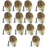 Sharplace 14pcs Tirador Manija de Aleación de Zinc de Puerta Gabinete Forma de Hoja Decoración de Muebles