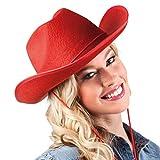 Boland 04075 - Erwachsenenhut Cowboy, Einheitsgröße, rot